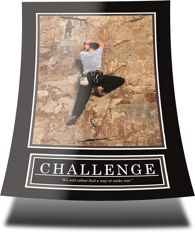 GREAT ART Challenge Poster Original - Barney Stinson Wall Poster - DIN A1 59,4 x 84,1 cm Escalada cómo conocí a tu Madre Motivación Barney Stinson ...