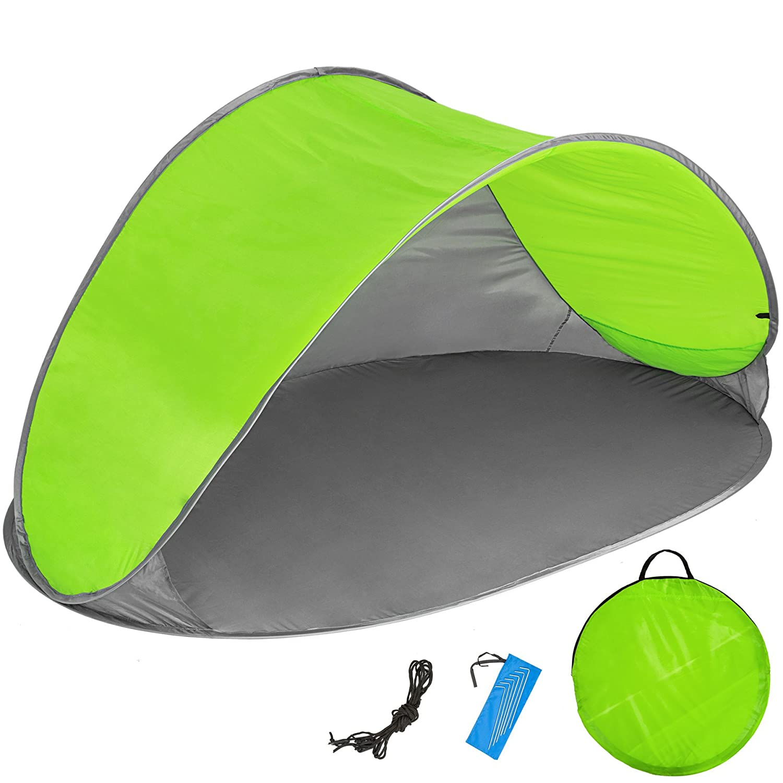 TecTake Tente abri de Plage auvent Pop up Protection UV 220x120x100cm avec Sac de Transport - diverses Couleurs au Choix - 800196