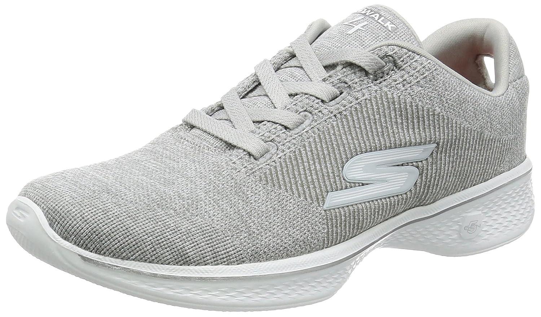 Skechers Go Walk 4, Zapatillas para Mujer 37 EU|Gris (Grey)