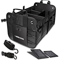 LEEKOO Collapsible Portable Multi Compartments Car Trunk Organizer