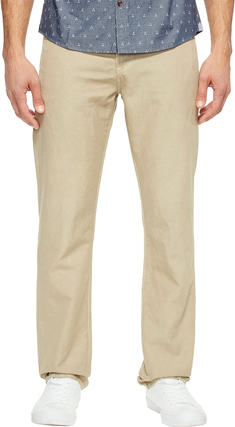 b7d82536441 Top1  AG Adriano Goldschmied Mens Graduate Tailored Leg Linen Pants in  Sulfur Desert Stone