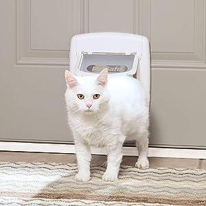 PetSafe Interior and Exterior Cat Door - Microchip RFID Pet Door - 4-Way Locking - Big Cat - Works With up to 40 Programmed Pets