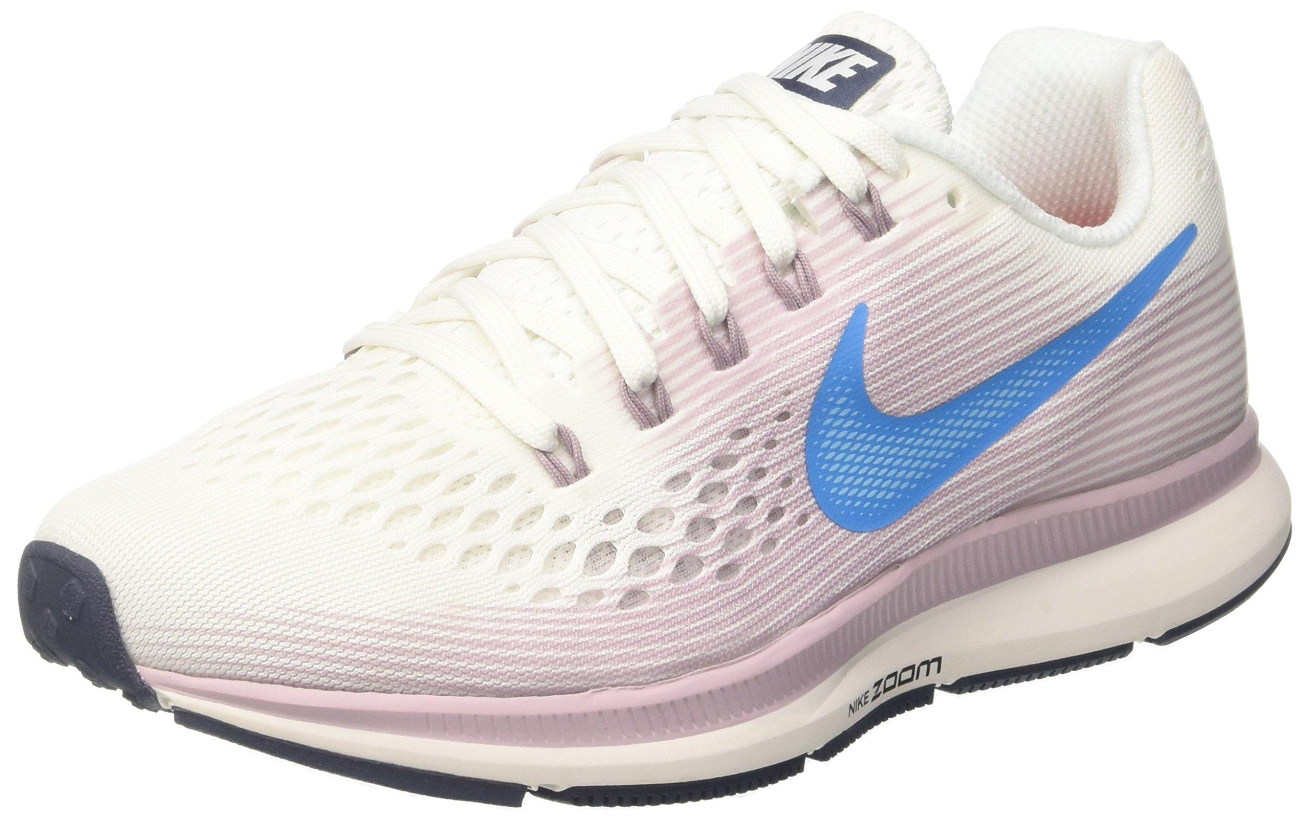 Nike Womens Air Zoom Pegasus 34 Running Trainers 880560 Sneakers Shoes (UK 3.5 US 6 EU 36.5, Summit White Equator Blue 105)