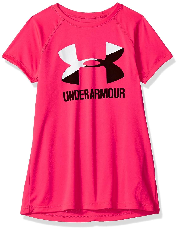 Under Armour Girls' Big Logo Tee Solid Ss Short-Sleeve Shirt 1331678