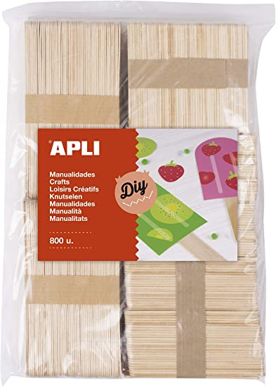 APLI Kids - Palos polo de madera natural surtido 800 uds.: Amazon ...