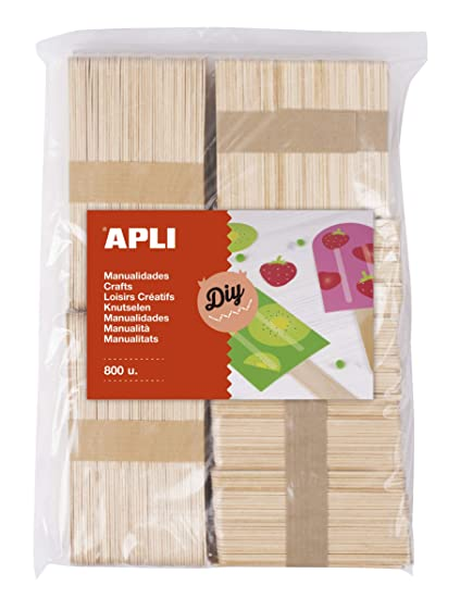 APLI Kids - Palos polo de madera natural surtido 800 uds.: Amazon ...
