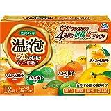 【医薬部外品】温泡(ONPO)入浴剤 とろり炭酸湯 ぜいたく柑橘柚子 4種 [4種x3錠 12錠入り]