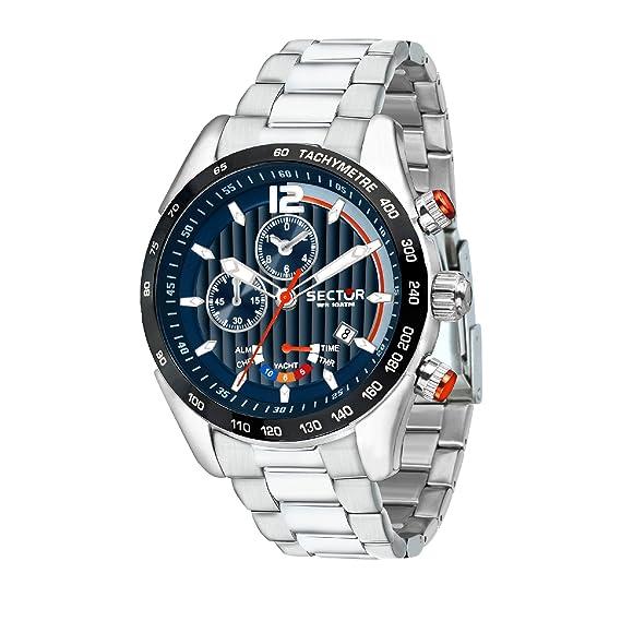 SECTOR Reloj Cronógrafo para Hombre de Cuarzo con Correa en Acero Inoxidable R3273794010: Amazon.es: Relojes