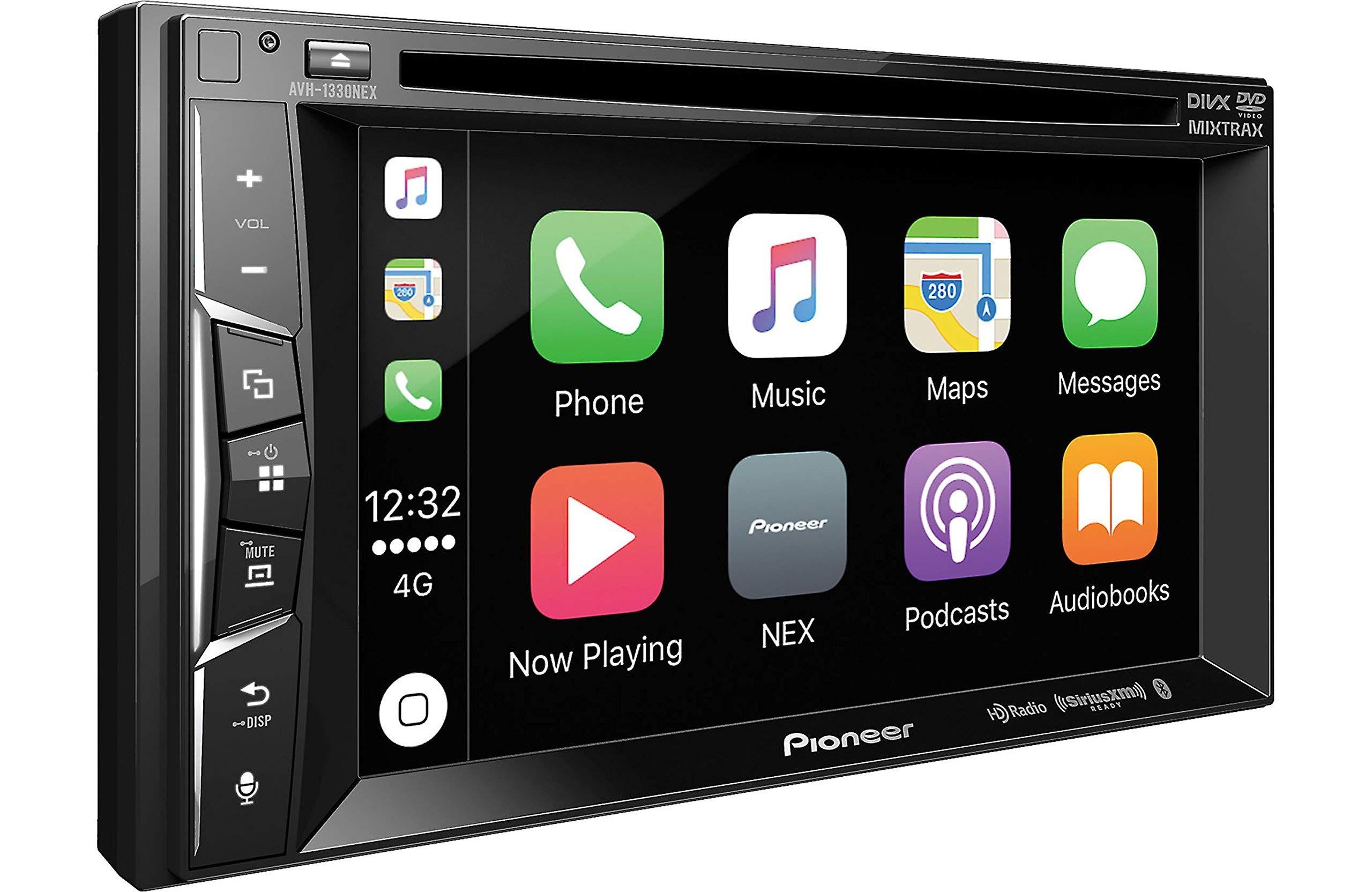 Pioneer AVH-1330NEX 6.2in DVD Receiver with Apple CarPlay, Bluetooth and HD Radio (Renewed) by PIONEER (Image #1)