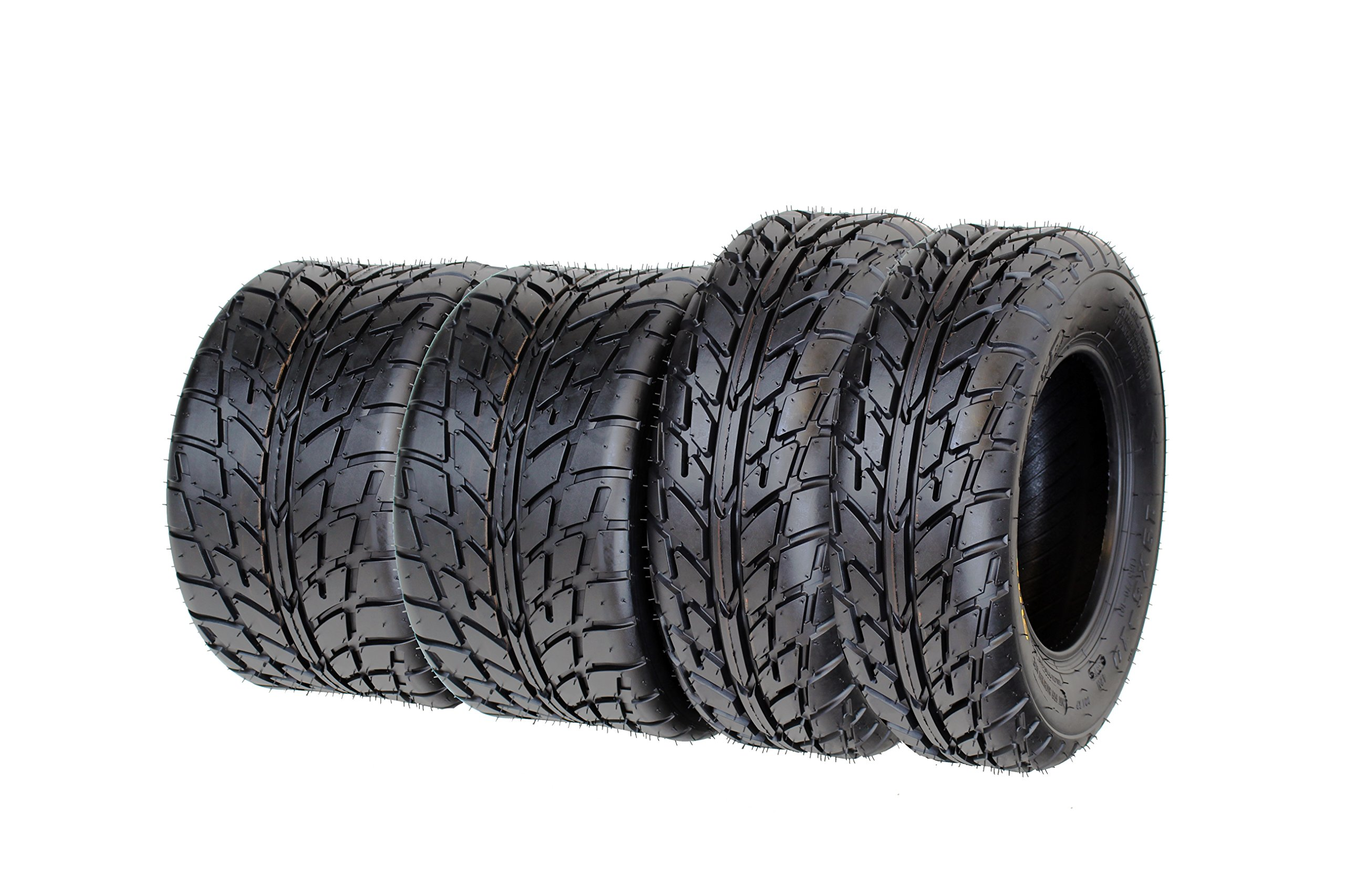 SunF A021 Road Go ATV Tires 19x6-10 & 225/45-9, 4 Ply Front&Rear