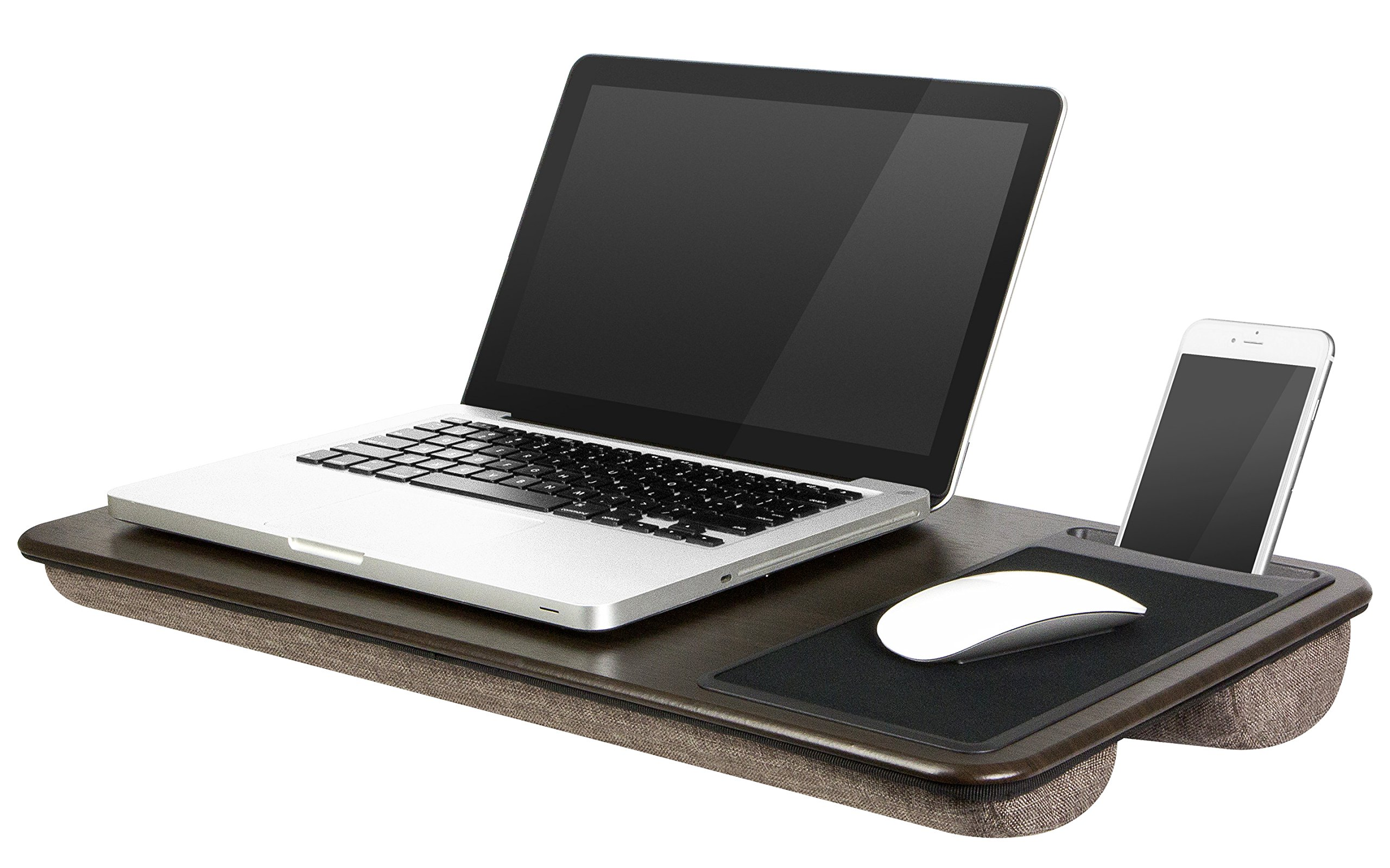 LapGear Home Office Lap Desk - Espresso Woodgrain (Fits up to 17'' Laptop)