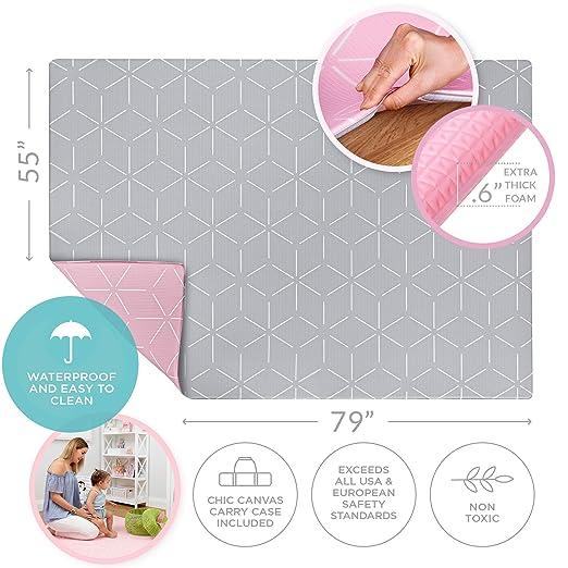 Amazon.com: Alfombra de juegos para bebés – Espuma acolchada ...