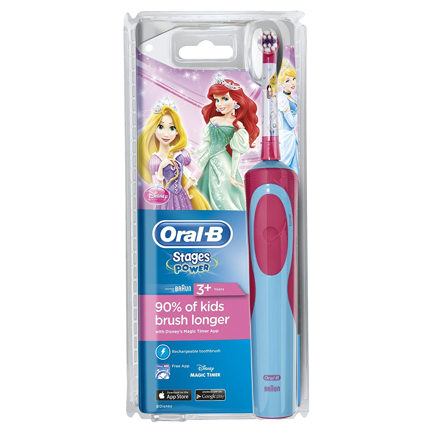 Amazon.com: Oral-B Braun Stages Vitality Princess Electric Toothbrush For Kids: Health & Personal Care