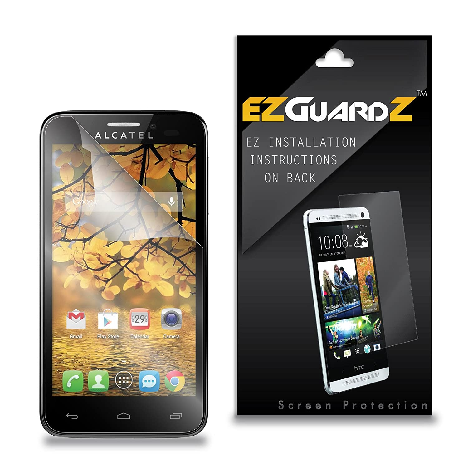 (5-Pack) EZGuardZ for Alcatel One Touch Fierce Screen Protector (Ultra Clear)