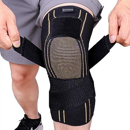 2x Compression Knee Sleeve Brace//Running//Arthritis//Joint Support//Tennis//Copper