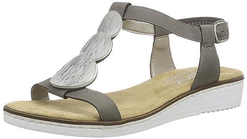 Rieker Damen 63684 Offene Sandalen mit Keilabsatz