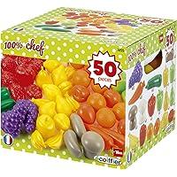 Jouets Ecoiffier - 2655 - Pack 50 Fruits et Légumes