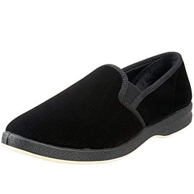 Foamtreads Men's Regal Slipper,Black,7.5 W