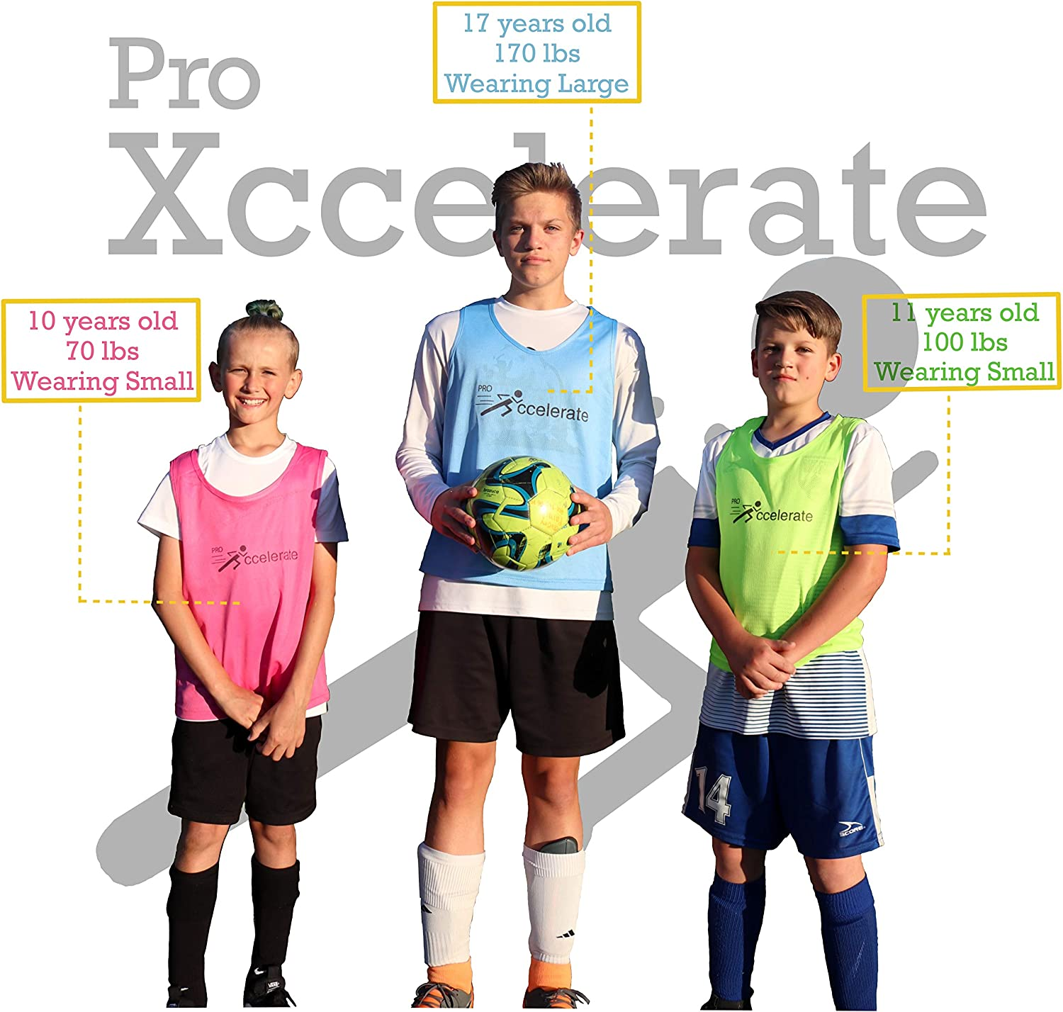 Scrimmage Vest Football Basketball Pinnies for Soccer Pro Xccelerate Practice Jersey Hockey-12 Pack