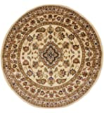 Style Classique Oriental Persan rond Motif floral traditionnel circulaire Tapis/Tapis, beige–133x 133cm