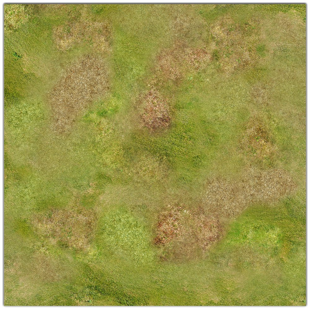 Rural Plains Wargaming Play Mat - 36x36 Inch Table Top Roleplaying and Miniature Battle Game Mat Great for Warhammer 40k Star Wars Minis Warmachine Polyester with Anti-Slip Rubber Backing