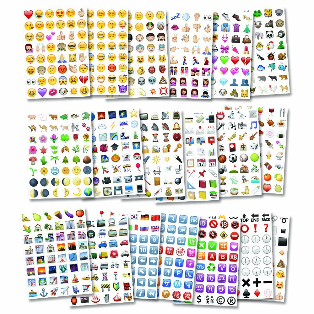 Emoji Sticker JUMBO PACK - 912 of the Most Popular Emoji stickers on 19  Pages - as seen on the iPhone, Twitter, Instagram, Facebook and more -