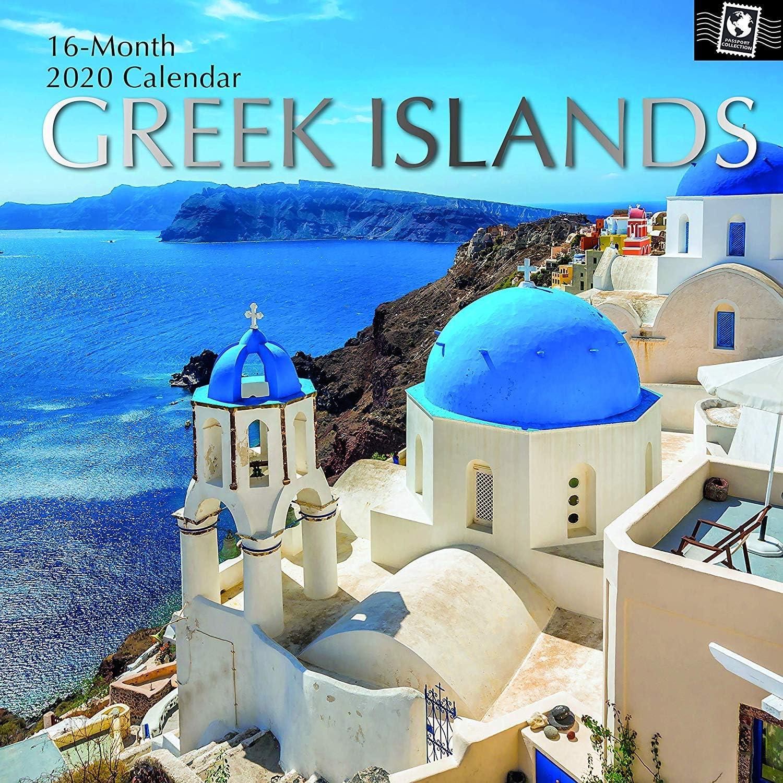 Greek Islands-2020 壁掛けカレンダー