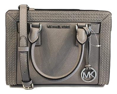81f44d4a3e58 ... discount michael michael kors micro stud dillon tz sm satchel grey  e0b5c 440e4