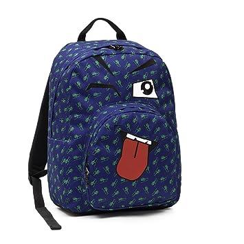 Invicta - Mochila escolar americano Invicta Ollie Pack Fantasy Face, flores azules: Amazon.es: Oficina y papelería