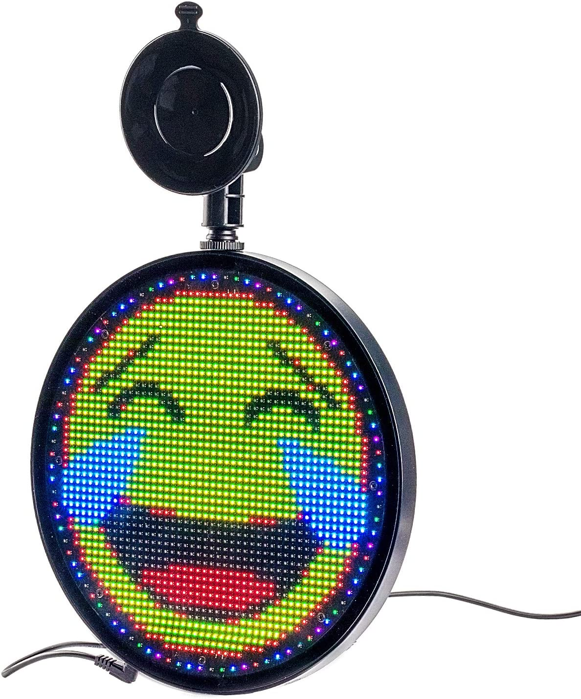 LED RGB Emoji Car Window Display Support GIF WIFI Controlled or Remote Controlled IMAGE APP Compatible iOS and Android System TEXT LED Baby Onboard Sign