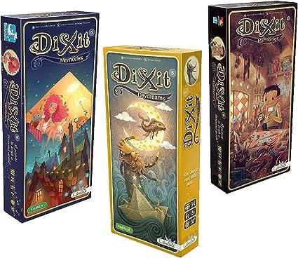 Asmodee Dixit Expansion Bundle de 3: Memories, Daydreams y Harmonies: Amazon.es: Juguetes y juegos