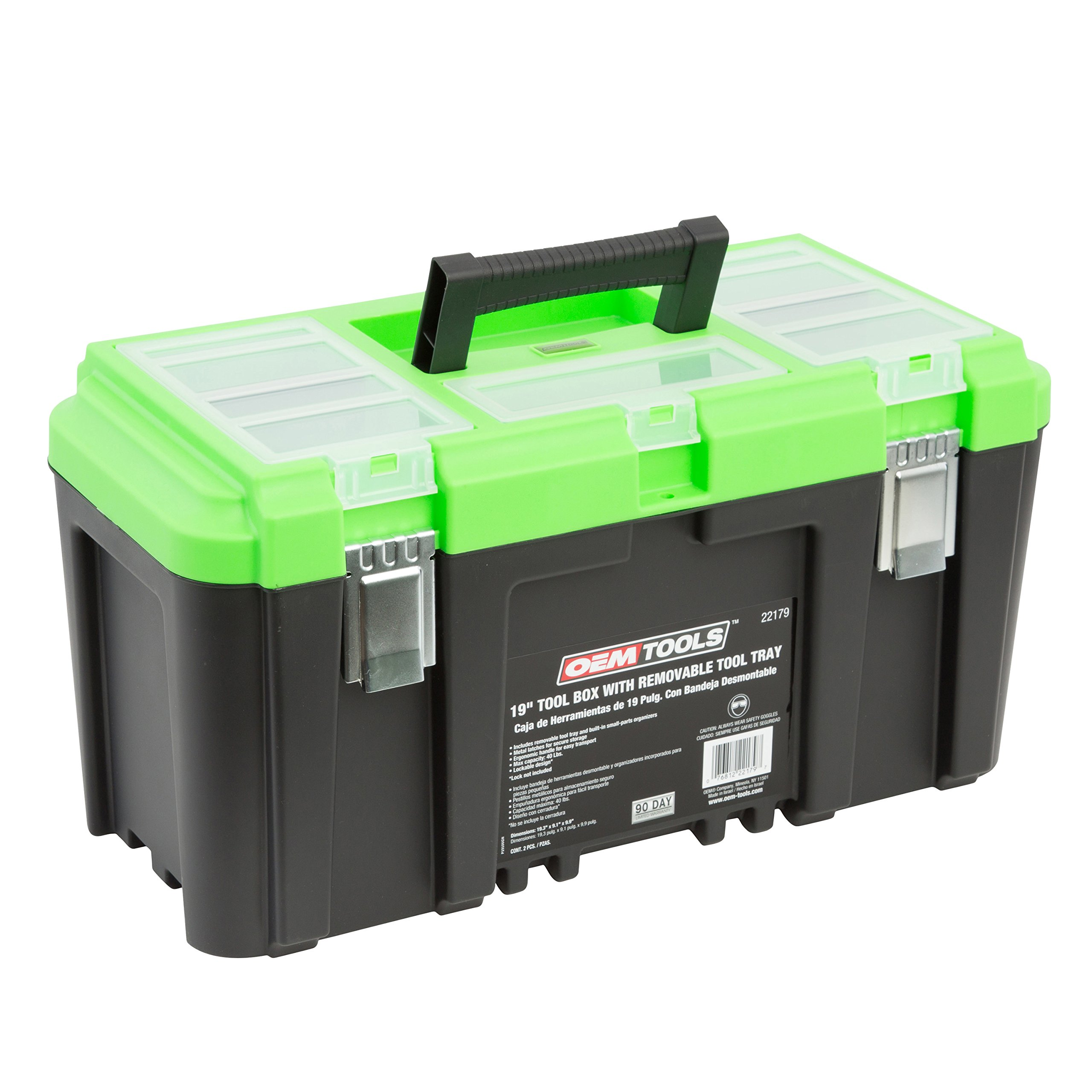 OEMTOOLS 22179 19'' Tool Box with Removable Tool Tray