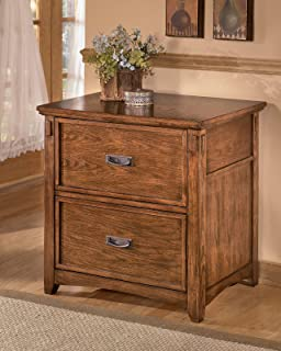 Ashley Furniture Signature Design   Cross Island File Cabinet   Rectangular    Medium Brown