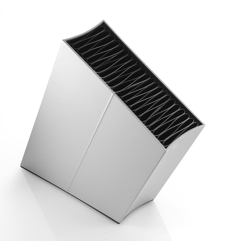 Eva Solo 515280 Portacoltelli, Con inserto flessibile, Inclinato, Altezza: circa 27 cm, Grigio