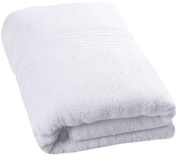 British elección de lino Supreme 600 gsm algodón egipcio toalla de baño, algodón egípcio, Blanco, 70X137 Cm: Amazon.es: Hogar
