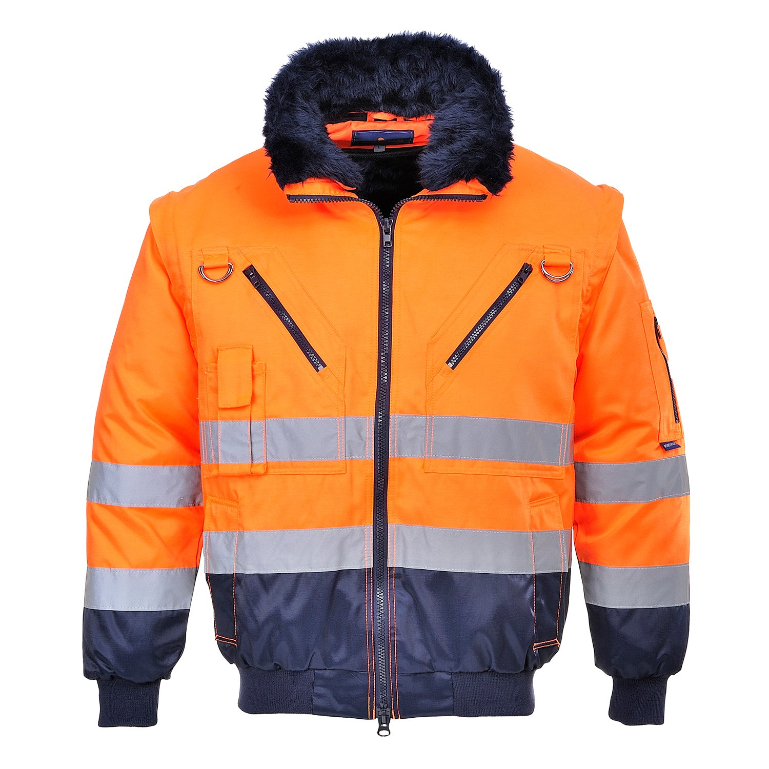 Portwest PJ50YBRXXL Hi-Vis 3in1 Pilot Jacket, 2X-Large, Yellow/Black