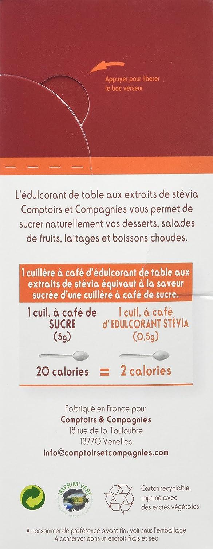 Comptoirs Et Compagnies Poudre Edulcorante Aux Extraits De Stevia 50
