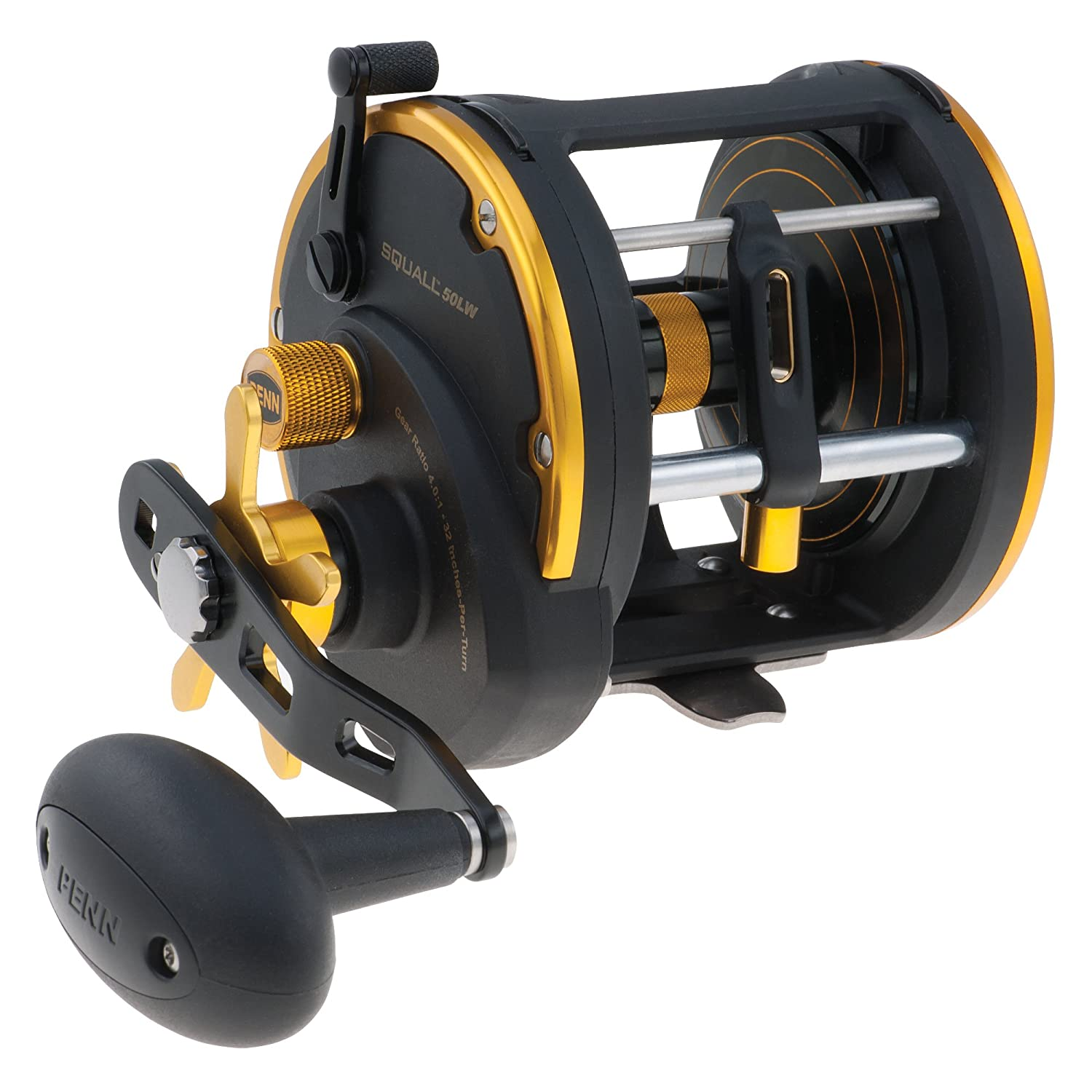How to spool a conventional reel - Amazon Com Penn Squall Levelwind Trolling Fishing Reels Sports Outdoors