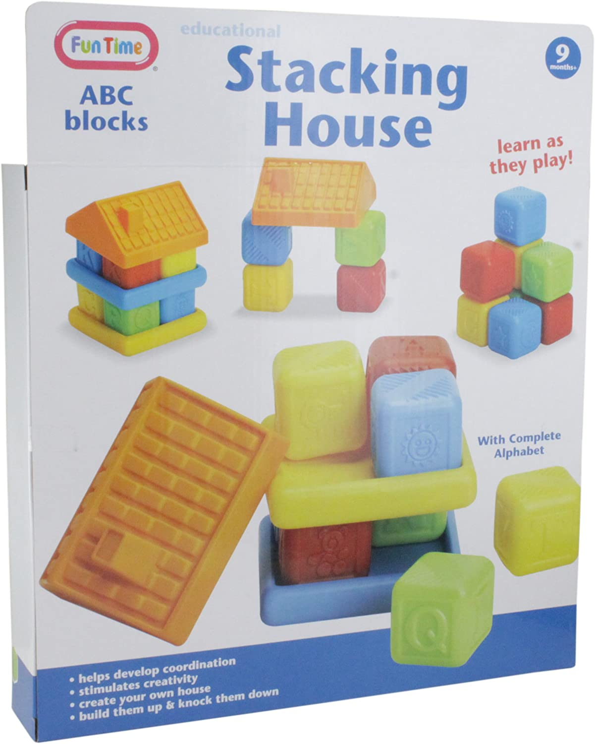 Fun Time Building And Stacking Set With Complete Alhphabet Blocks And Stacking