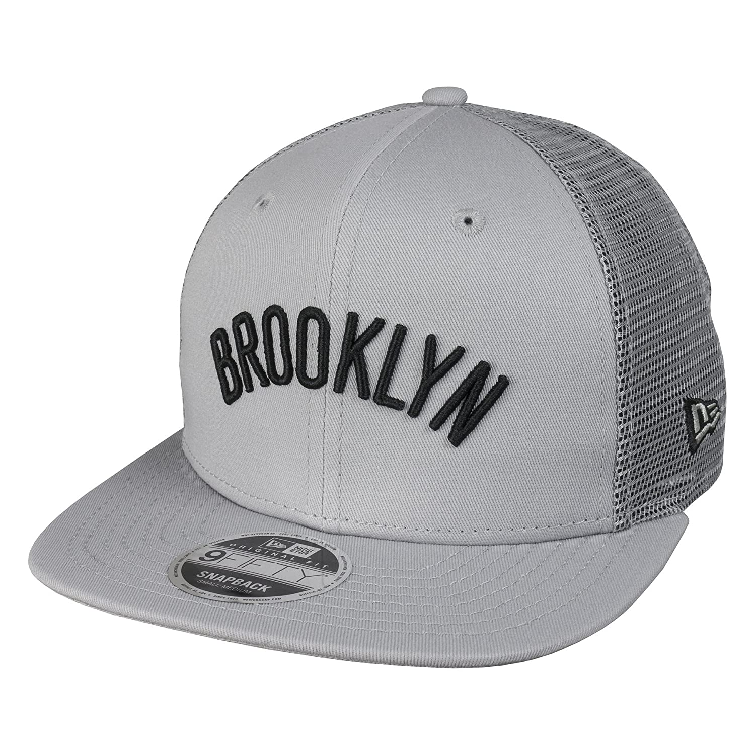 New Era 9Fifty Tamaño Orig Brooklyn Nets NBA Mesh Gris Snapback ...