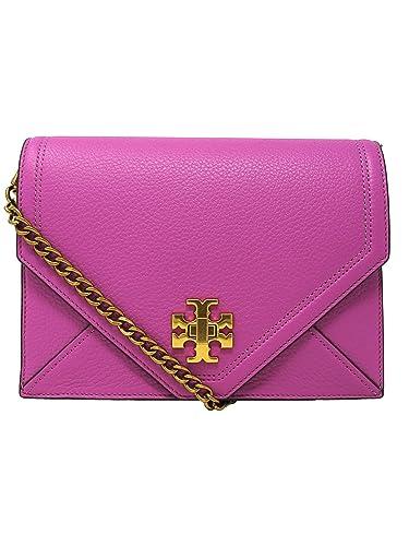 130fae1e97ec Tory Burch Women s Kira Envelope Leather Crossbody Cross Body Bag - Bright  Orchid  Handbags  Amazon.com