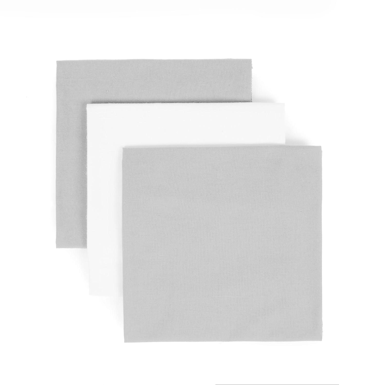 Tadpoles Organics 3 Piece Flannel, Grey and White, Receiving Blanket Sleeping Partners BRBBOC023