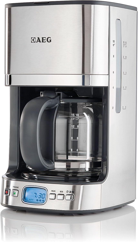 AEG KF7500 Independiente Semi-automática - Cafetera (Independiente, Cafetera de filtro, 1,25 L, 1080 W, Negro, Acero inoxidable, Transparente): Amazon.es: Hogar