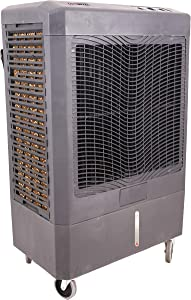OEM TOOLS 23977 5,300 CFM Evaporative Cooler, Covers Area up to 1,600 Square Feet, Oscillates for Even Air Flow, Connects Directly to Hose, Grey, 5300