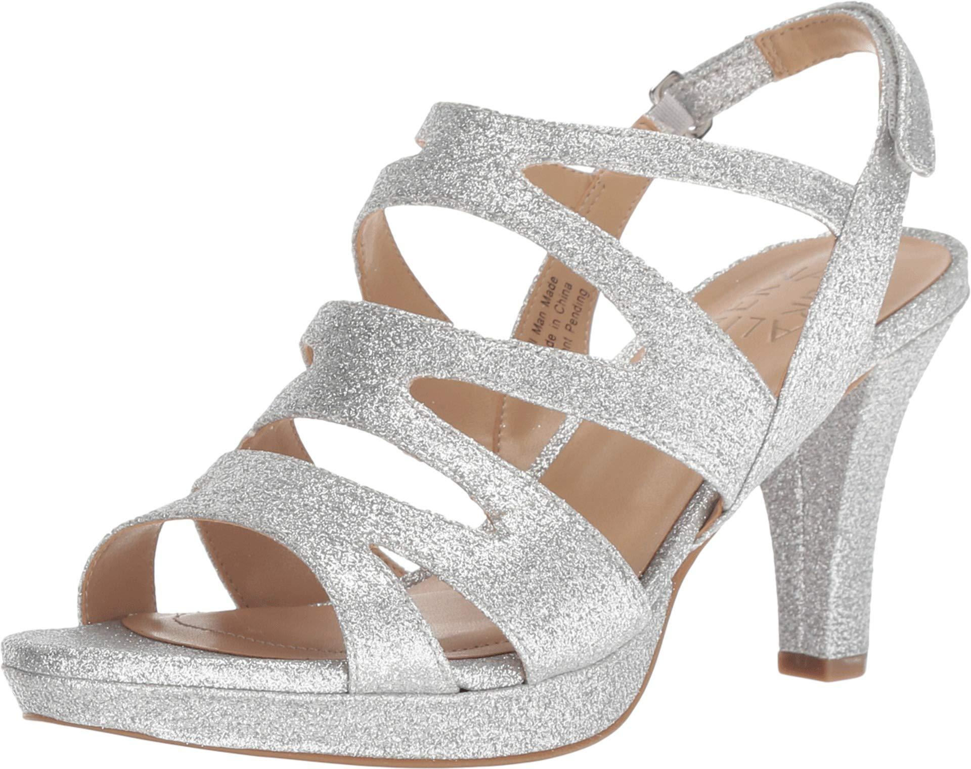 c742a2811966 Galleon - Naturalizer Women s Pressley Silver Mini Glitter 7.5 W US W (C)