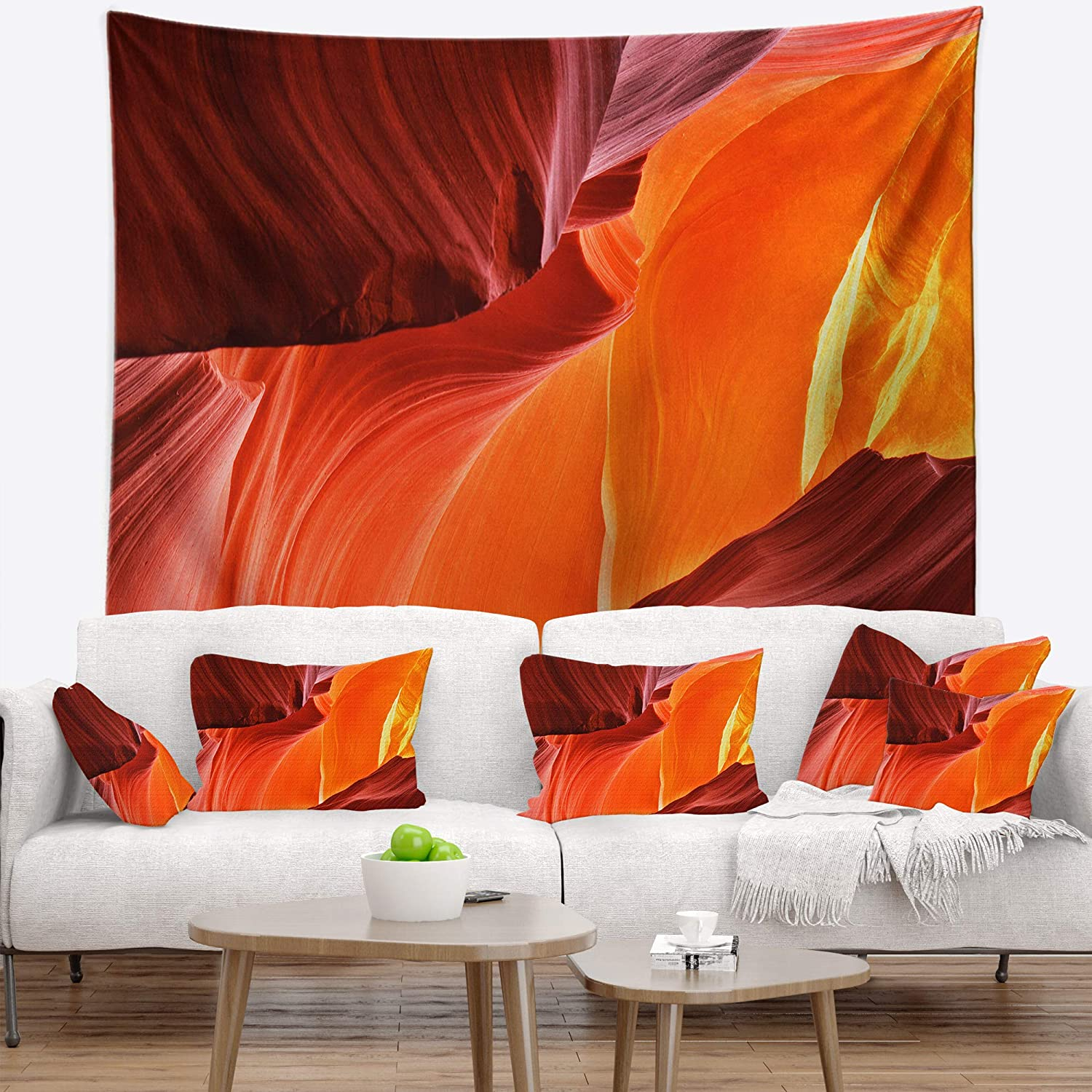 X 32 In 39 In Designart Tap8727 39 32 Midday In Antelope Canyon Landscape Photo Blanket Décor Art For Home And Office Wall Tapestry Medium Created On Lightweight Polyester Fabric Home Kitchen Home Décor