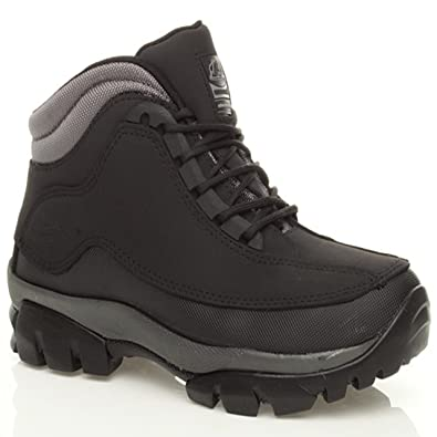 MENS GROUNDWORK STEEL TOE CAP SAFETY TRAINERS LEATHER LACE UP WORK BOOTS SHOES