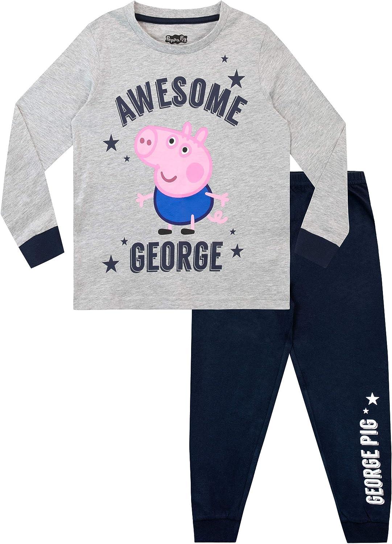 Peppa Pig Pijamas de Manga Larga para niños George Pig: Amazon.es ...