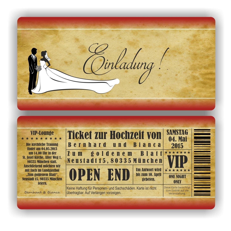 Einladung zur Hochzeit I I I Brautpaar - Einladung I HO-002 Hochzeitseinladung (40 Stück) B0771LCD68 | Auf Verkauf  | Überlegene Qualität  | Das hochwertigste Material  6ed31c