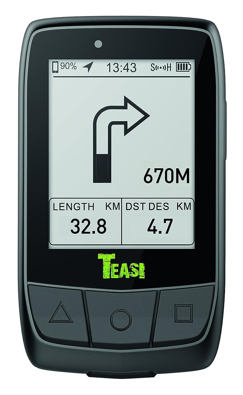 Teasi Core GPS para Ciclismo y Running, Unisex Adulto, Negro, M NAV-BikTC
